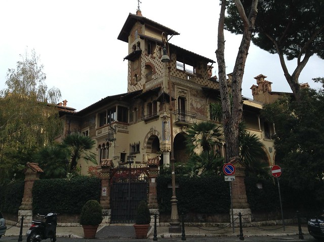 The 'fairy house' is one of the most famous of the whole quartiere Coppede' in Rome