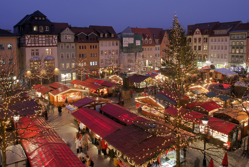 Christmas market in Jena, Thuringia, Germany. Credit Rene Schwietzke