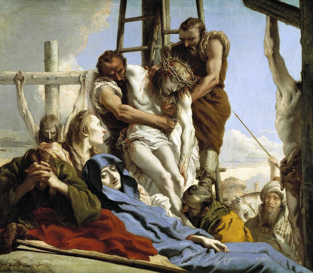Giovanni Domenico Tiepolo - El Descendimiento (1772)