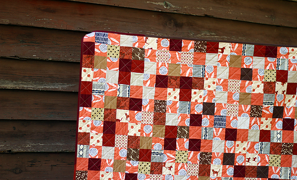 Pumpkin Spice patchwork quilt