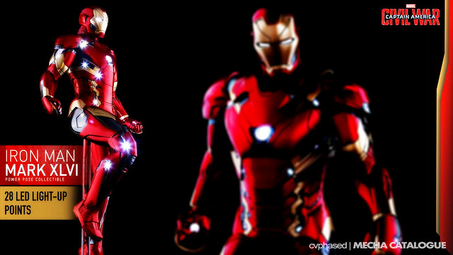 Hot Toys Power Pose Series 1/6 Iron Man Mark 46