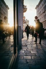 Autumn street life