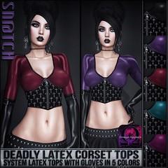 Sn@tch Deadly Latex Corset Tops Vendor Ad LG