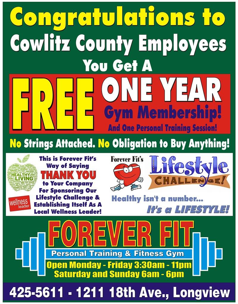 Free Membership Cowlitz County 11-2016