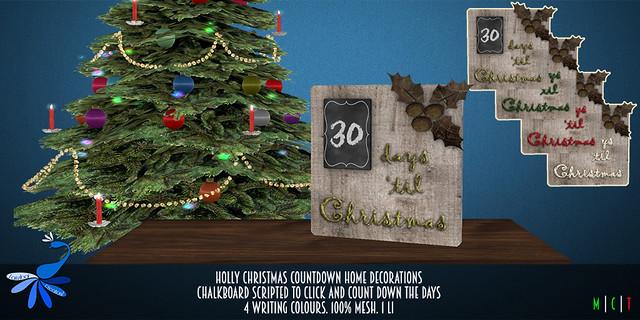 ZcZ Christmas Countdown Holly