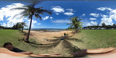 At Three Tables at Pupukea Beach Park on the North Shore of Oahu, Hawaii  - A 360 degree Equirectangular VR