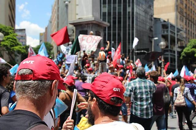 Demonstrators gather in downtown Belo Horizonte - Credits: Brasil de Fato MG