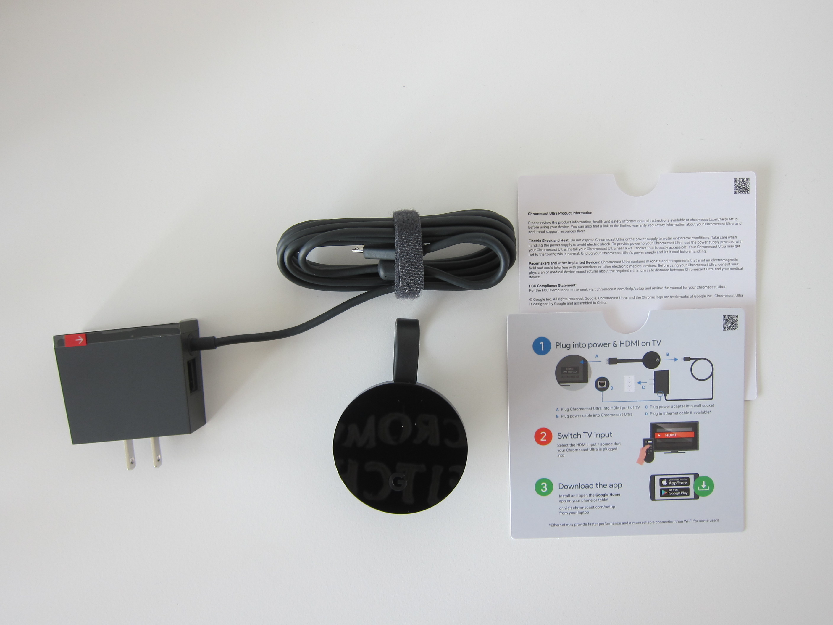 Google Chromecast Ultra Blog Home Ethernet Wiring Box Contents