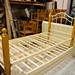 Cream and wood 3ft bed frame