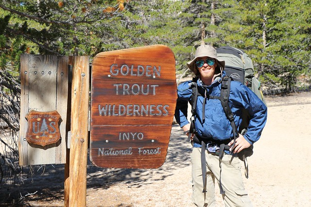 We enter the Golden Trout Wilderness on the Cottonwood Pass Trail