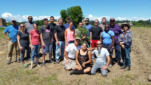 Metro/IHCC Community Garden - tree planting Red Lake Nation