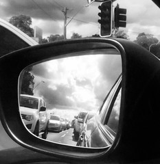automobile, automotive exterior, automotive mirror, window, wheel, white, vehicle, automotive design, rear-view mirror, monochrome photography, glass, city car, monochrome, windshield, luxury vehicle, black-and-white, black,