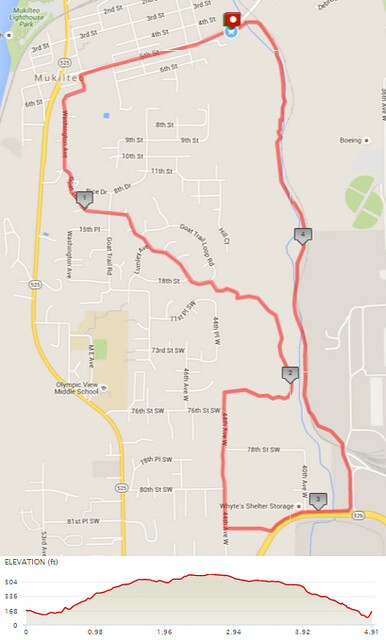 Today's awesome walk, 4.91 miles in 1:42, 10,549 steps, 489ft gain