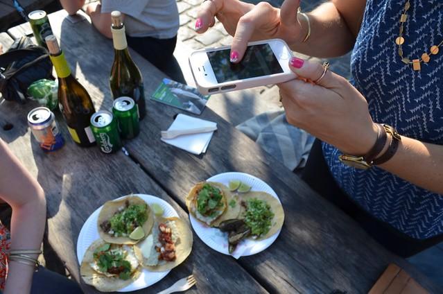 Instagramming Hija de Sanchez tacos at Torvehallerne Copenhagen