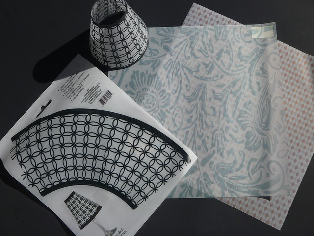Materials for making vellum candle lamp shades on Gift Style Blog Gave That