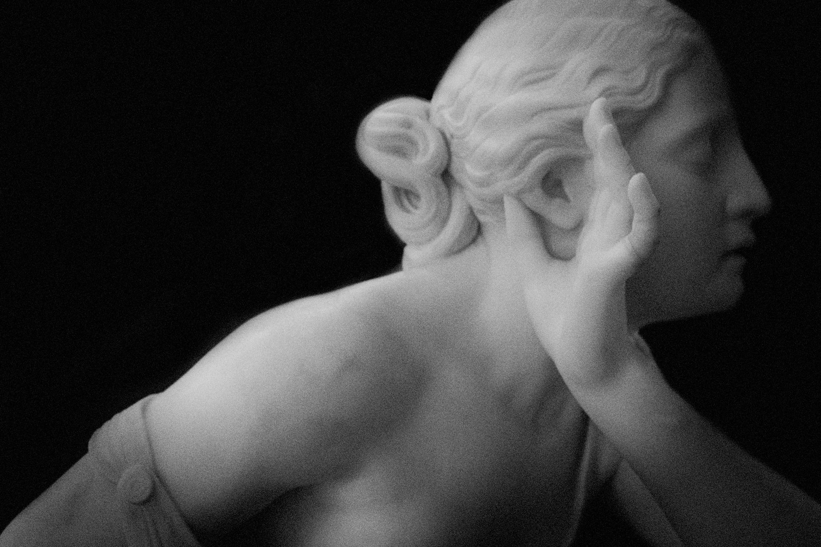 """Portrait of Randolph Roger's 1867 Sculpture, """"Nydia, the Blind Flower Girl from Pompeii"""". 2015"""