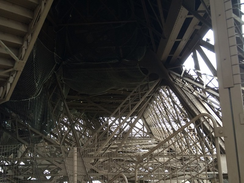 Inner Lattice work of Eiffel Tower.