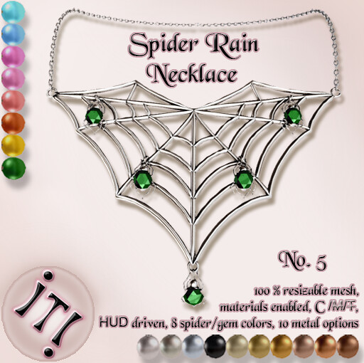 !IT! - Spider Rain Necklace 5 Image