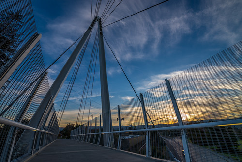 california bridge blue sunset orange architecture sunnyvale unitedstates cupertino i280 maryavebridge