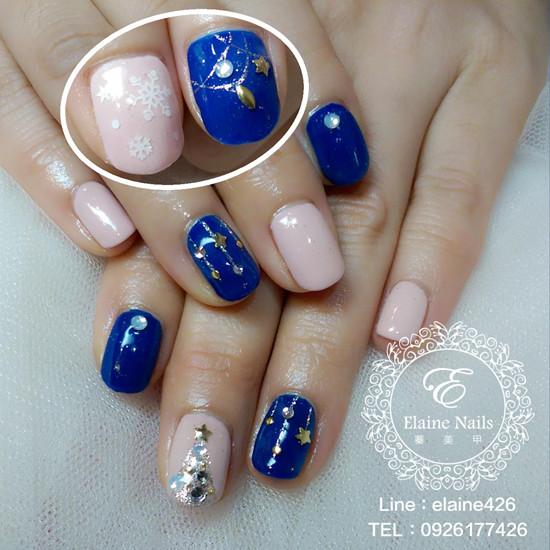 1031211藍粉跳色氣質聖誕
