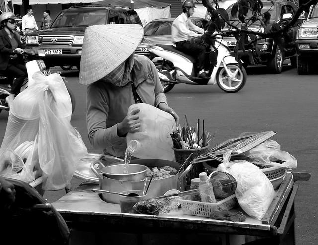 Street Food Vendor in Saigon (Ho Chi Minh City), Vietnam
