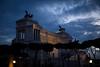 Darkness falls over the Vittoriano