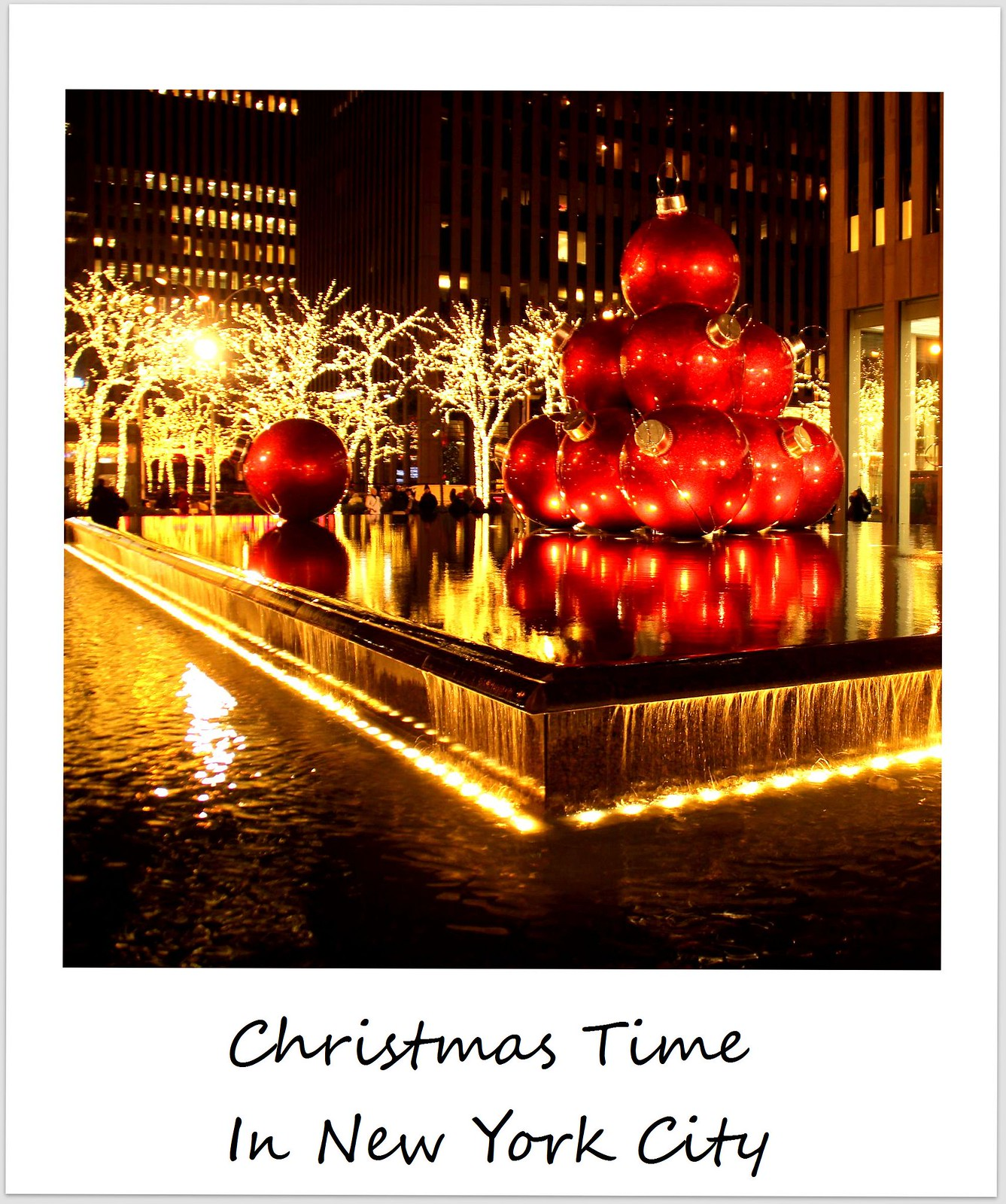 polaroid usa new york city christmas