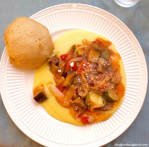 Slow Cooker Ratatouille and Polenta
