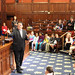 Rep. Dave Rutigliano (Trumbull) joined Tashua Elementary School for their tour of the CT Capitol and Legislative Office Buildings, Oct. 2015.