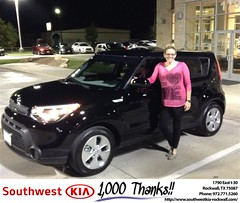 Happy Anniversary to Ashley on your #Kia #Soul from Kyle Bennett at Southwest KIA Rockwall!