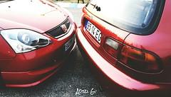 Honda Civic Type R EP3 y Honda Civic VTi EG en el Kartodromo Internacional de Braga, Portugal.