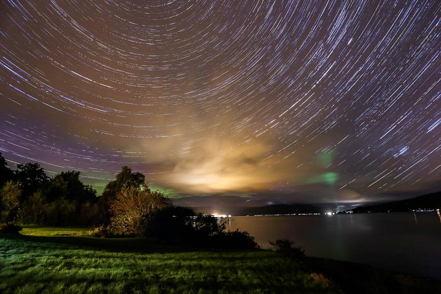 Startrails over Loch Fyne