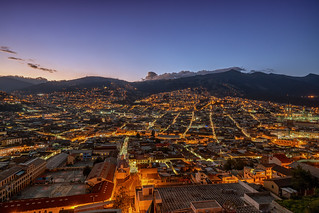 Quito cityscape at dawn
