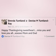 When you find old posts your mom left you on FB 😔😔 #notreadyfortheholidays #doesheavenhaveaphone