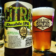 Thanks to my cousin @hopzeus for this @kernriverbrewing #CitraDoubleIPA...this beer is still one of my favorites! #CraftBeer #ProperGlassware #ICouldntFindMyCitraGoblet.