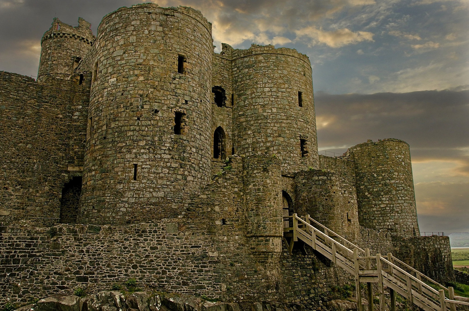 Harlech Castle. Credit Gouldy, flickr