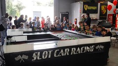 Slot car racing birthday party today with racing party events first of two gigs today.  #racingpartyevents #mobileslotcarracing #mobileslotcarparty #slotcar #slotcars #birthdayfun #birthday #birthdayparty #birthdaypartyfun #slotcarracingparty #childrengam