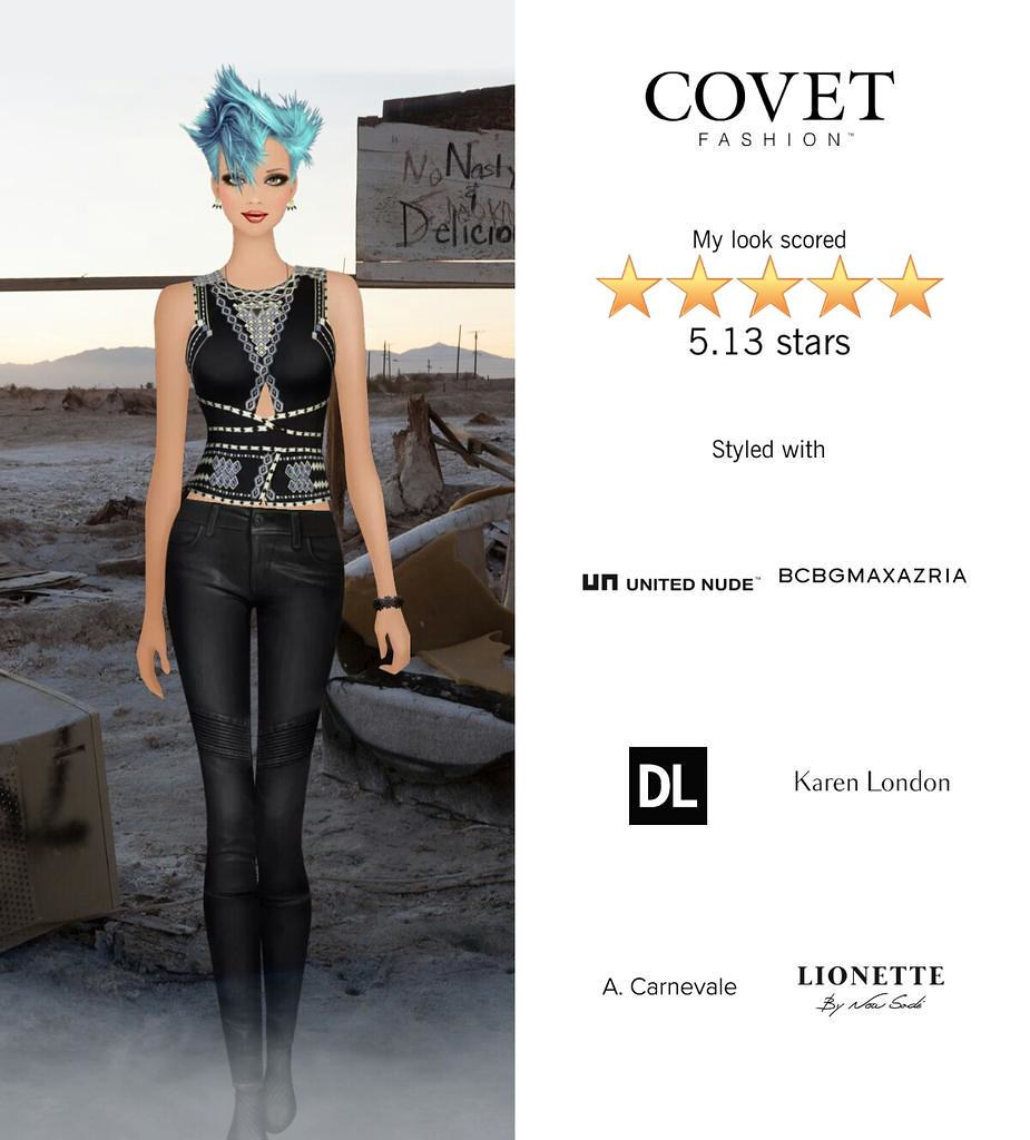 My Look Scored Stars In The Post Apocalypse Challenge In Covet Fashion