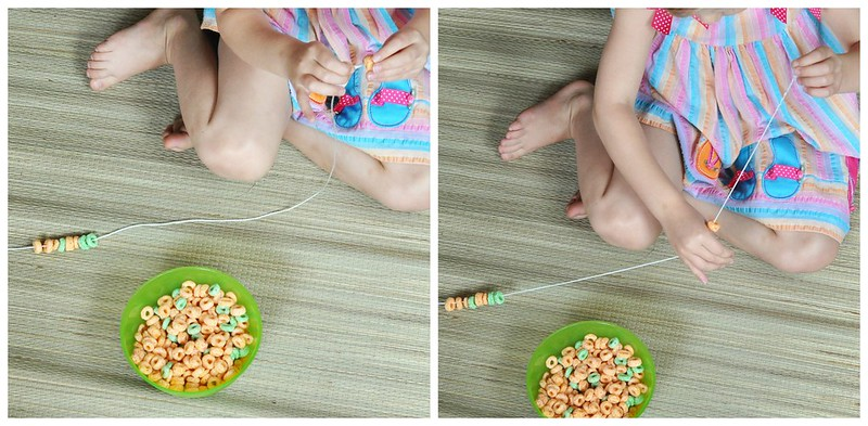 Stringing Cereal Fine Motor Activity