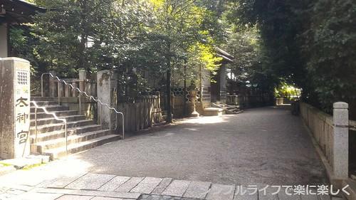 日牟禮八幡宮→登山道入口への道