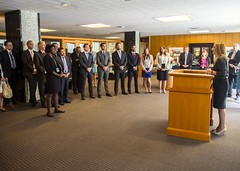 Deputy Secretary of State for Management and Resources Heather Higginbottom delivers remarks at the graduation ceremony for the Transatlantic Diplomatic Fellows at the U.S. Department of State in Washington, D.C., on August 27, 2015. [State Department photo/ Public Domain]
