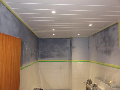 Fleckige Wand