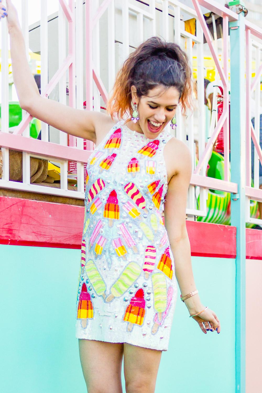 margate dreamland asos ice cream walls sequin dress