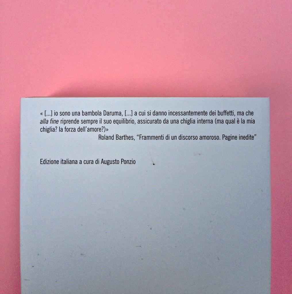 Roland Barthes, Il discorso amoroso. Mimesis 2015. Quarta di copertina (part.), 2