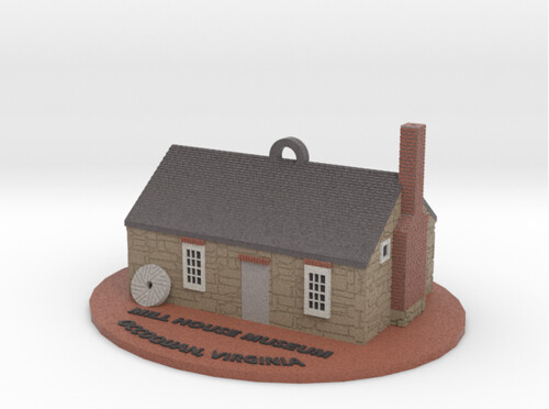 3D Printing - Occoquan Mill House Museum - Sandstone Render - New Shingles