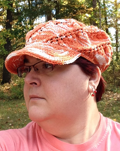 Orange Swirl Hat