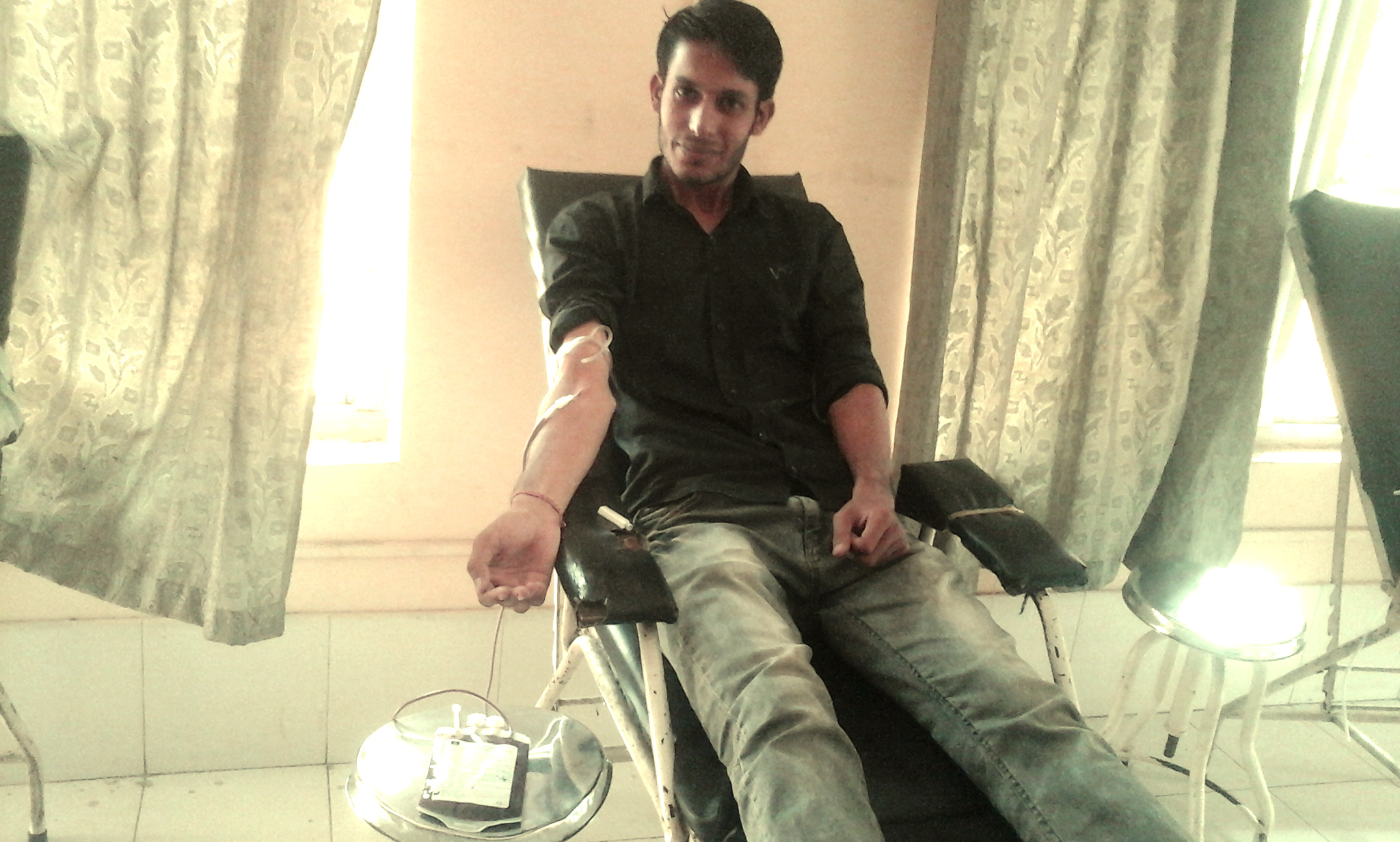 Donating my O+ve blood to Uma Devi Neupane at Nepal Redcross Society Regional Blood Transfusion Center, Biratnagar, Nepal