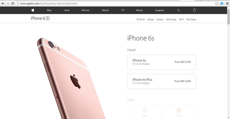 iphone6s official prices