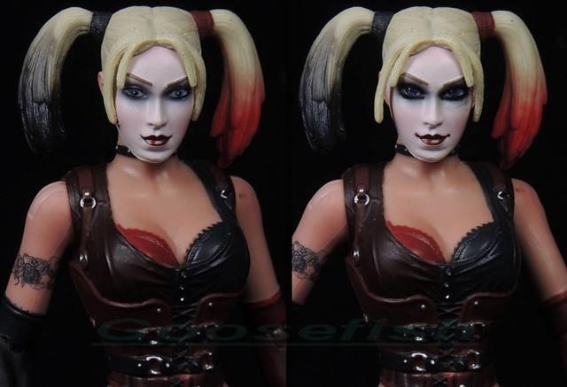 【玩具人Goosefish投稿】DC Arkham City Harley Quinn 6吋女小丑 塗裝改造