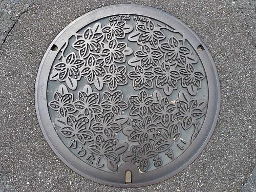 Yawata Kyoto, manhole cover 3 (京都府八幡市のマンホール3)